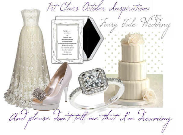that give weddings a fairy tale appeal October Inspiration Board